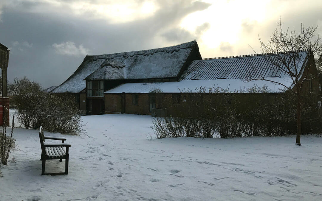 Beast from the East covers Dingle Marsh Barns in snow